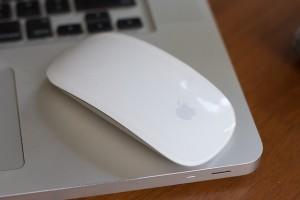 PC Maus auf Laptop